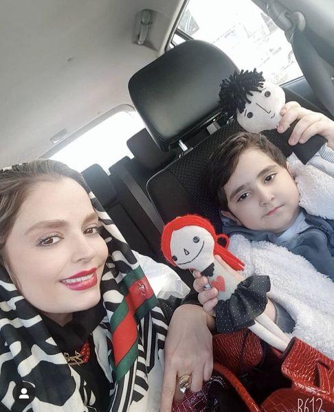 عروسک های قد و نیم قد پسر بازیگر مشهور + عکس