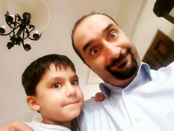 نیما کرمی و شیطنت های پسر باجناقش+عکس