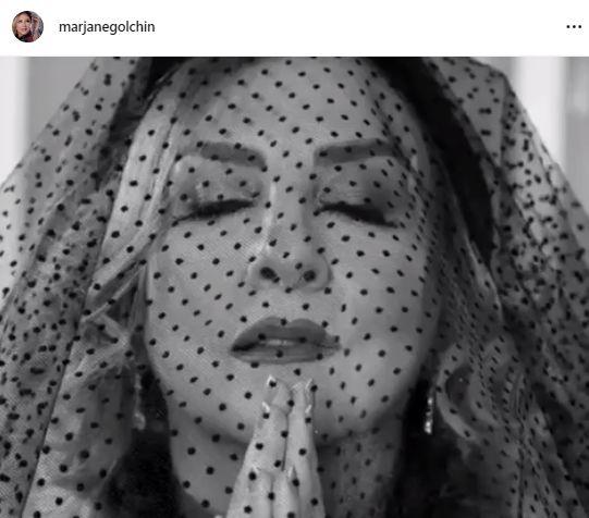 عزاداری اروپایی مرجانه گلچین+عکس
