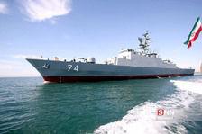 مراسم الحاق ناوشکن سهند به ناوگان نیروی دریایی ارتش جمهوری اسلامی ایران