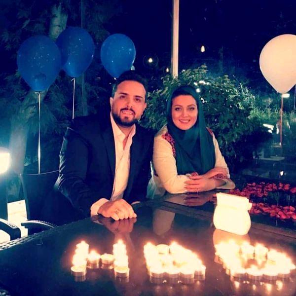 تولد مجری مشهور با همسرش در کافه + عکس