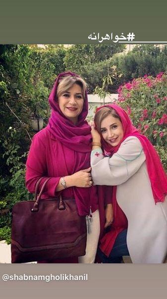 شبنم قلی خانی و خواهرش + عکس