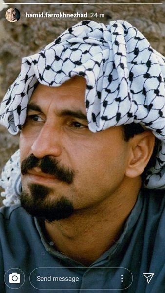 حمید فرخ نژاد در لباس عرب ها + عکس