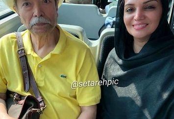 خانم و آقای بازیگر معروف در اتوبوس عمومی+عکس