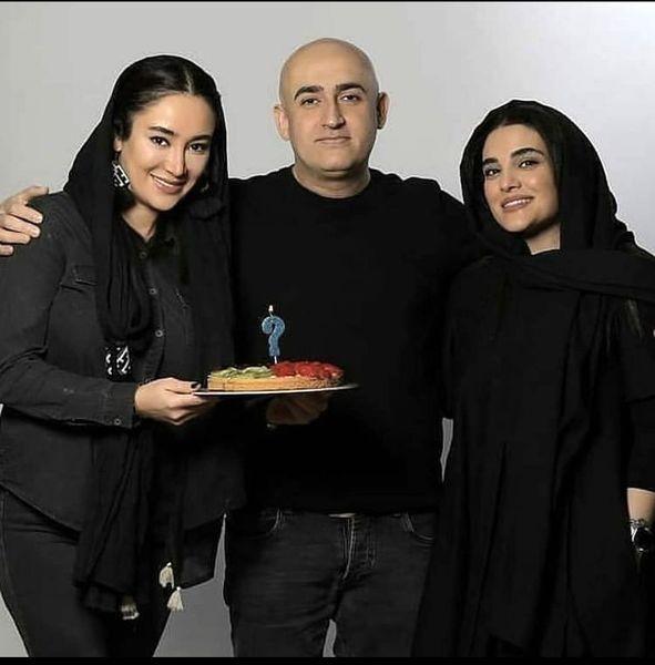بهاره افشاری در کنار برادر و زن برادرش + عکس