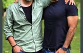 بانی پال شومون در کنار مرد مو جو گندمی سینمای ایران + عکس