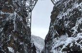 عکس/ پل وِرسک در یک روز برفی