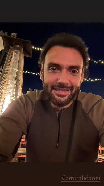 سلفی شبانه امیرعلی دانایی + عکس