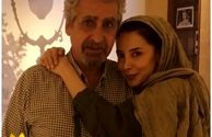 عکس عاشقانه سحر جعفری جوزانی با پدر معروفش