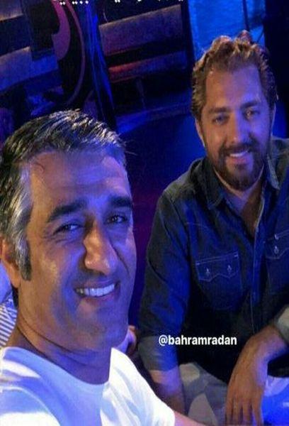 سلفی دوستانه پژمان جمشیدی و بهرام رادان + عکس