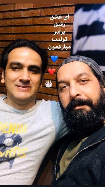 تبریک کامران تفتی به عشقش + عکس