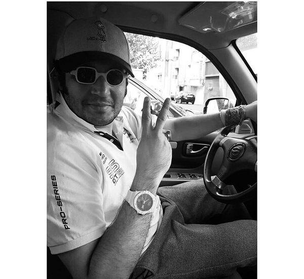 مهران رنجبر در ماشین شخصی اش + عکس