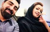 محمدرضا علیمردانی و همسرش در حال سفر با هواپیما+عکس