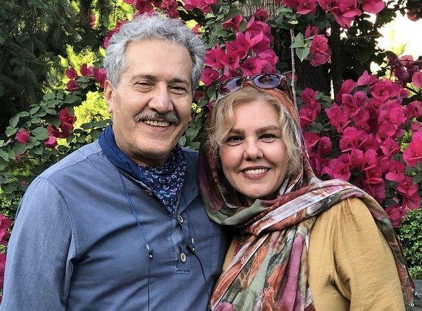 افسانه چهره آزاد و همسرش + عکس