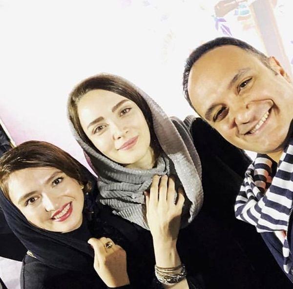 بهنوش طباطبایی و گلاره عباسی در کنار بازیگر همگناه + عکس