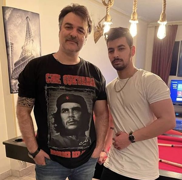 مجید سعیدی و پسرش + عکس