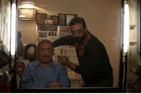 خسرواحمدی در حال گریم + عکس