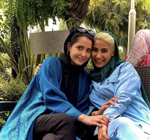 شبنم قربانی در کنار دوستش + عکس