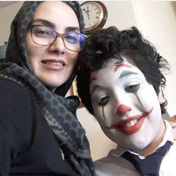 پسر جوکر خانم بازیگر + عکس