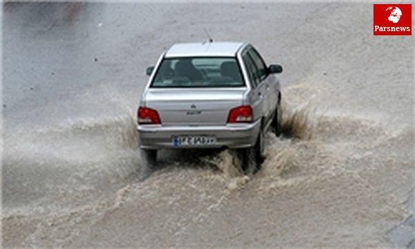 احتمال وقوع بارش در محورهای ارتباطی تهران
