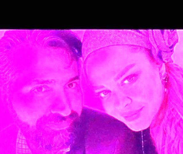 عکس دخترونه طور بهاره رهنما و همسرش