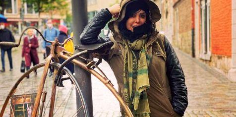 تیپ زمستانی فلور نظری در آلمان + عکس