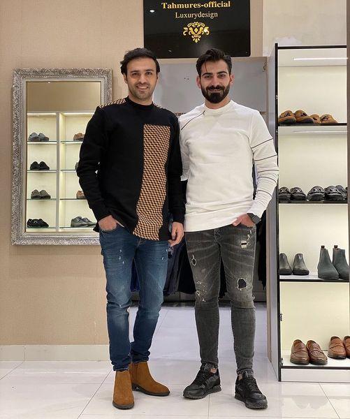 سامان صفاری در فروشگاه رفیقش + عکس