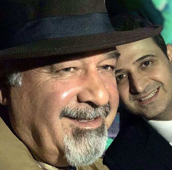 مجری آی فیلم در کنار پدرش + عکس