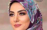 خانم مجری مدل آرایش شد+عکس