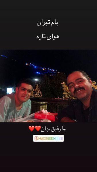 گردش های شبانه بازیگر معروف در بام تهران + عکس