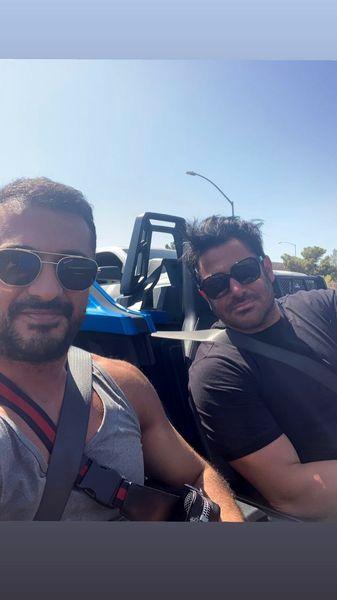 سلفی جدید گلزار و دوستش در دبی + عکس