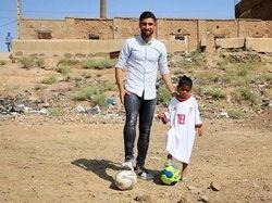 حرکت انسان دوستانه ستاره تیم ملی+عکس