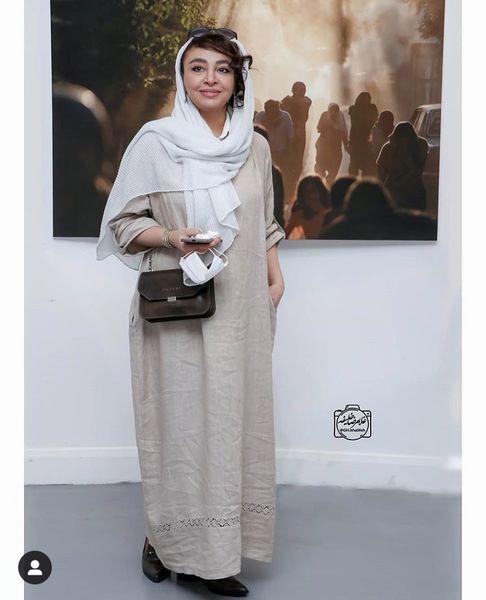 مه لقا باقری در یک نمایشگاه + عکس