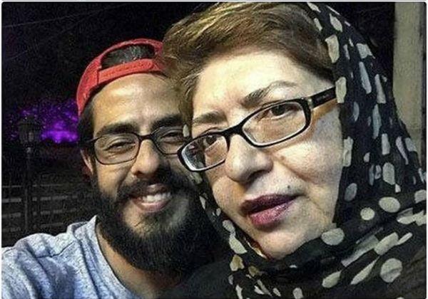 پوریا شکیبایی و مادرش + عکس