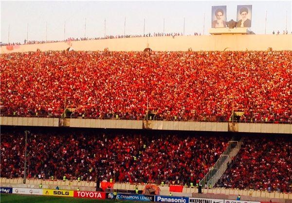 علیپور: کل ورزشگاه آزادی قرمز بود