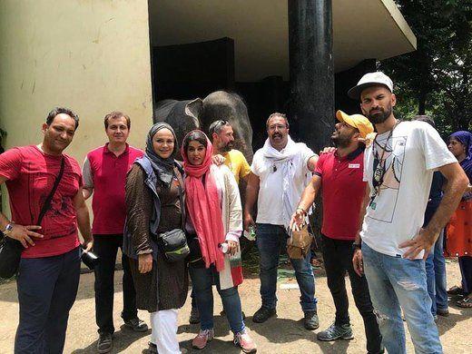 خانم کارگردان در میان مردم مهربان سیستان+عکس