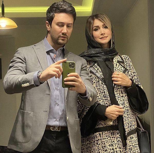 عکس مادام موسیویی شاهرخ استخری با همسرش + عکس