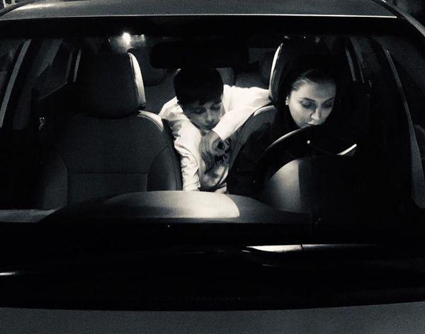 رویا میرعلمی و پسرش در خودرو شخصی شان+عکس