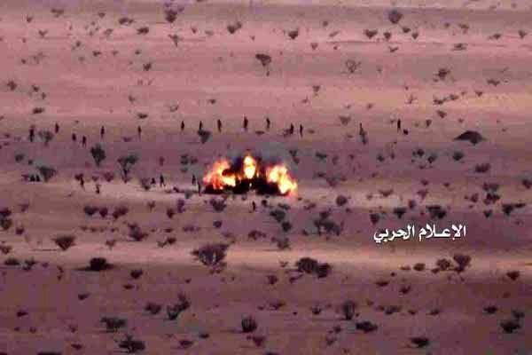 انهدام خودرو نظامیان عربستان در جیزان