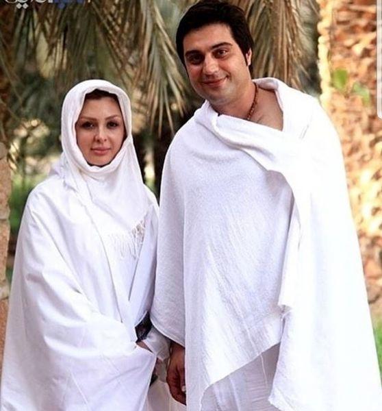 نیوشا ضیغمی و همسرش در حج + عکس