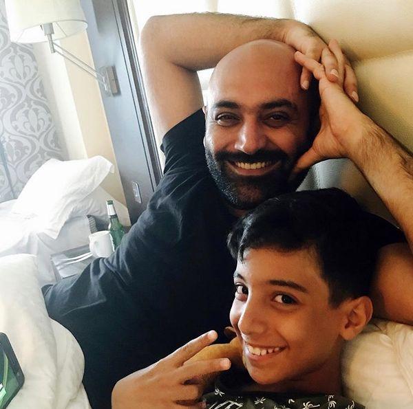 مهد کوشکی و پسرش + عکس