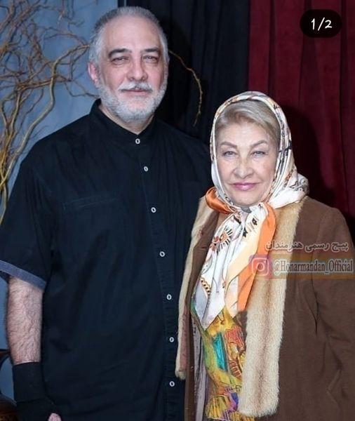 ایرج نوذری و مادر خوشتیپش+عکس