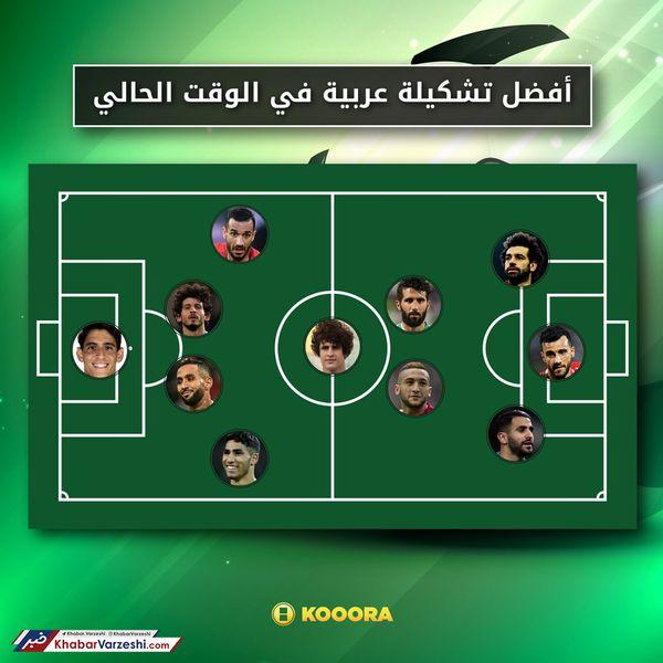 ستاره پرسپولیس در کنار صلاح و محرز در تیم منتخب بازیکنان عرب