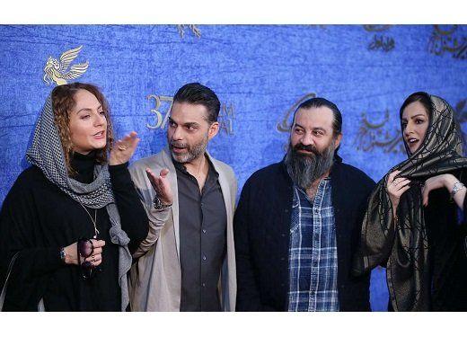 قهقهه شقایق دهقان، مهراب قاسمخانی و پیمان معادی روی فرش قرمز/عکس