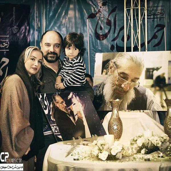 برزو ارجمند و خانواده در یادبود پدر هنرمندش+عکس