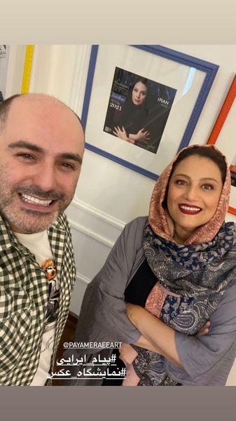 شبنم مقدمی در نمایشگاه عکس پیام ایرانی + عکس
