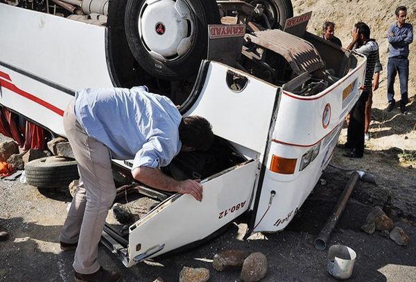 اتوبوس زنجان-تبریز واژگون شد / یک کشته و 31 مصدوم تاکنون