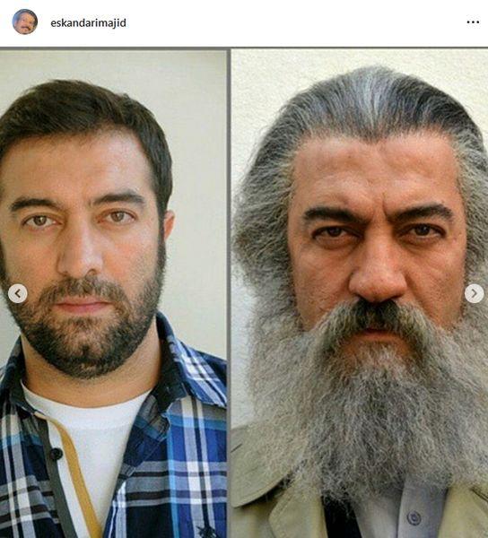 گریم جالب مجید صالحی توسط استاد اسکندری+عکس