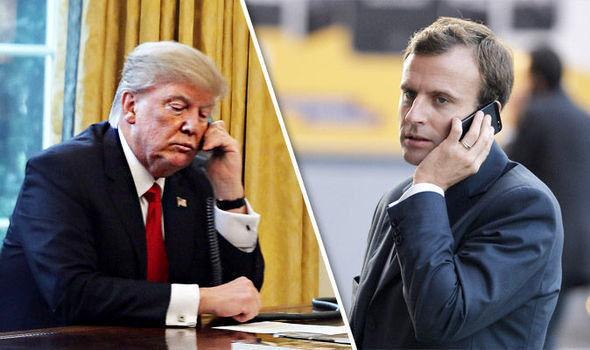 تماس تلفنی ماکرون با ترامپ در مورد خاشقچی