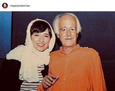 عکس زیرخاکی «نگار جواهریان» در کنار پدر مرحومش